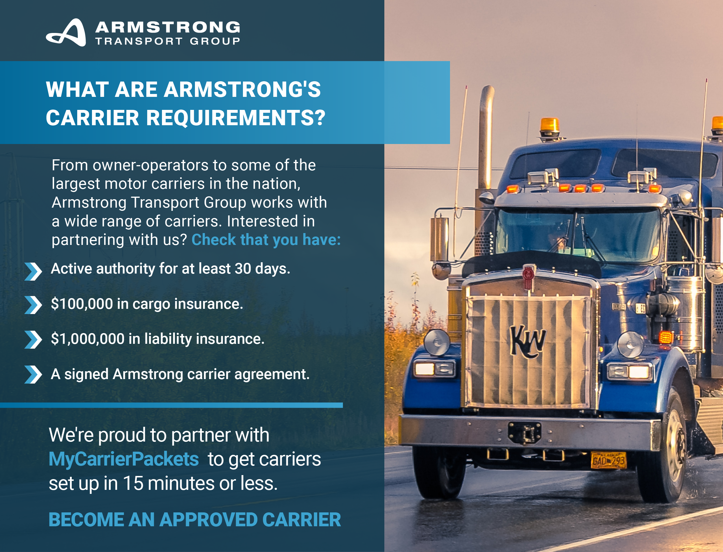 Armstrong Transport Group Carrier Requirements